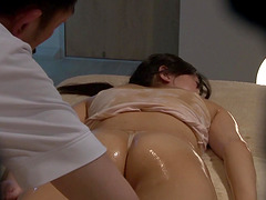 Oiled up Asian chick attacked by a man..