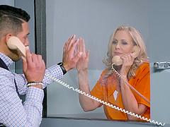 Julia Ann is a mature blonde inmate..