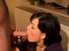 CFNM babe blows a boner