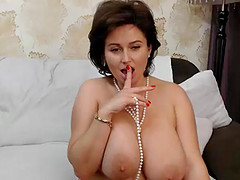 A Hot Sexy Huge Boobs Milf Is All By..