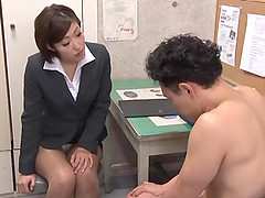 Sexy Japanese co-worker is ok with..