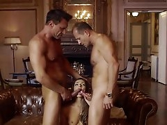 Young beauty gets two older guys to..