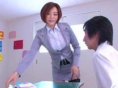 Yuria Satomi spreads her legs for a..