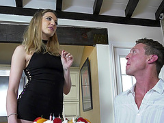 Dahlia Sky joins bisexual men for a..