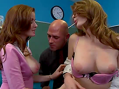 Redhead Duo Best Threesome With Faye..