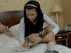 Schoolgirl Isabel loves having sex..