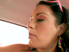 Beautiful big-ass chick fucks reverse cowgirl in POV video