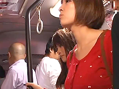 Two pretty Japanese schoolgirls get..