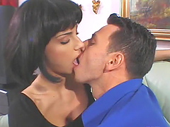 Katja Love licks Nick Lang's cock so..
