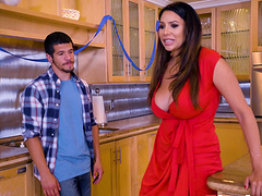 Missy Martinez takes off her red dress..