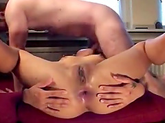 Hot bitch gets her open anal hol..