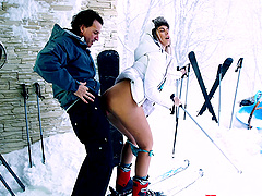 Winter sex session with alluring..