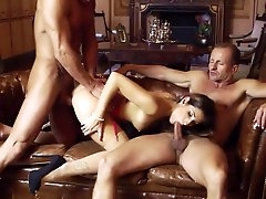 Clea Gaultier severe sex with two..