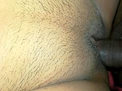 Horny ebony get big aged cock.
