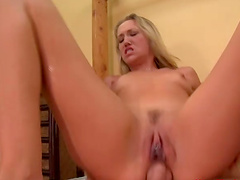 Alana Evans has a good time while..