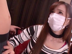Sumire Mika takes off her mask to suck..