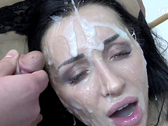 Linda swallows 73 huge mouthful cumshots