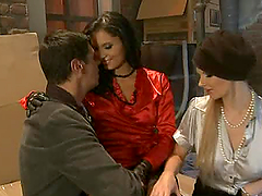 Naughty Lucy Belle and Tarra White are..
