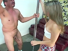Girl sucks a dick after getting her..