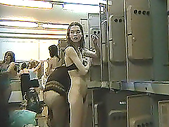Spy camera in the ladies locker room..