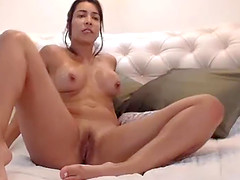 Yummy Shaved Camslut Uses Her Favorite..