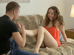 Russian cutie Olivia Grace having her..