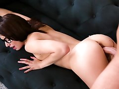 Girl with glasses fucked in extra hot..