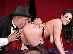 Milf with big tits, naughty anal magic..