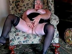 Beautiful Granny masturbates and..