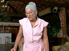 Lascivious Granny Eva greedily taking..
