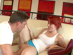Horny redhead teen fucked by her..
