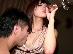 Brunette Harumi Tachibana gets her..