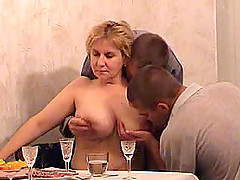 Veronika is a busty woman seduced by a..