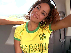 Sizzling Brazilian babe likes it big..
