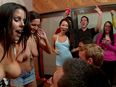 Asa Akira invades Party With Threesome..