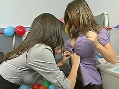 Sexy Office Party For Hot Babes in..