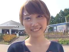 Stunning Mio Oichi gives a handjob in..