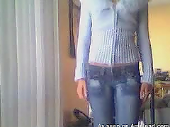 Homemade amateur video of slim teen..