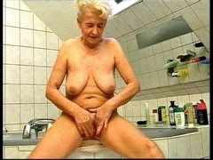 Bathing with German granny before..