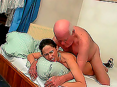Young brunette gets her pussy fucked..