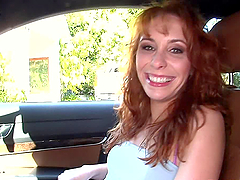 Redheaded MILF Leila Mason fucks with a black guy