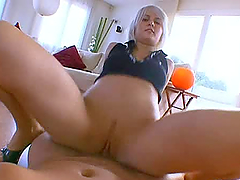 Stupid Hairy Butt Blonde Whore Blowjob..