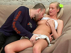 Inga the blonde teen with pigtails..