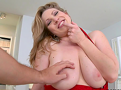 Blonde, big tits, and a cock hungry whore in reality