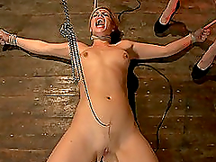 Poor blond honey gets under hostage by..