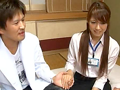 Japanese Office Girl Climbs On A Dick..