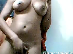 Homemade video of busty babe..