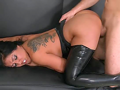 Sexy brunette Kiara Mia gets fucked in..