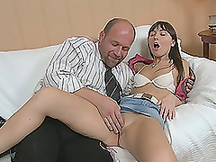 Old Man Fingers A Highschool Hottie