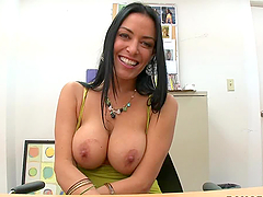 Big Tits Brunette Slut Blowjob and POV Sex